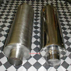 HIGH PERFORMANCE MUFFLERS for TURBO DIESELS, Stainless Steel and Highly Polished Stainless | Copyright 2009 a1customs.com |