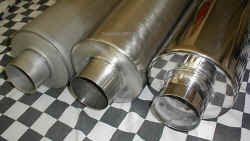 HIGH PERFORMANCE TURBO DIESEL MUFFLERS, Materials; Aluminzed, Stainless Steel and High Polished Stainless. | Copyright 2009 a1customs.com |